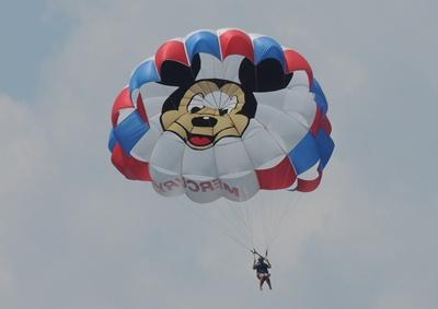 Parasailing at Disney World